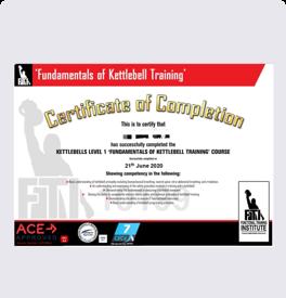 健身教练培训小工具证书